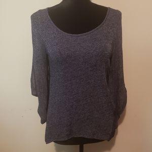 Unique Lace Back Slit Sleeve Sweater